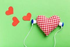 Headphones and heart Royalty Free Stock Photos