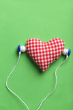 Headphones and heart Royalty Free Stock Image