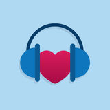 Headphones Heart Royalty Free Stock Images