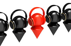 Headphones on the human figure Royalty Free Stock Images