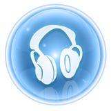 Headphones icon ice Stock Photography