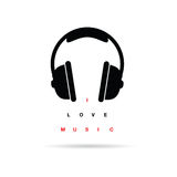 Headphones icon with message vector illustration Royalty Free Stock Photos