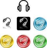 Headphones icon symbol Stock Image