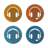 Headphones Icons Set royalty free stock image