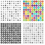 100 headphones icons set variant. 100 headphones icons set in 4 variant for any web design isolated on white vector illustration
