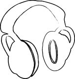 Headphones  illustration Royalty Free Stock Photography