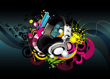 Headphones illustration Stock Photos