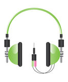 Headphones illustration Royalty Free Stock Image