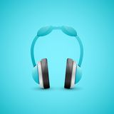 Headphones Illustration, Graphic Concept Royalty Free Stock Photos