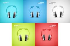 Headphones Graphic Illustration Royalty Free Stock Photos