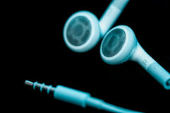 Headphones Isolated on Black Background Royalty Free Stock Photos