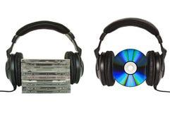 Headphones isolated on white Royalty Free Stock Photo