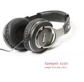 Headphones isolated on white background. Stock Photo