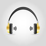 Headphones Isolated on White Background. Headphones Isolated on White Badesign ckground,for in the media industry stock illustration