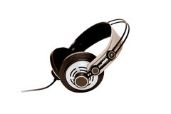 Headphones isolated on white background Stock Images