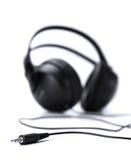 Headphones jack plug isolated on white Royalty Free Stock Photos