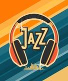 Headphones with jazz Royalty Free Stock Photo