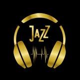 Headphones with jazz Stock Images