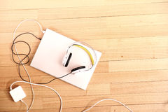 Headphones and a Laptop Royalty Free Stock Images