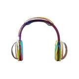 Headphones lines color Stock Photos