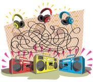 Headphones Maze Game Stock Images