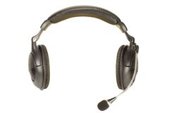 Headphones with microphone Royalty Free Stock Photo