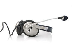 Headphones with microphone Royalty Free Stock Photos
