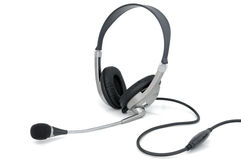 Headphones with microphone Royalty Free Stock Photography