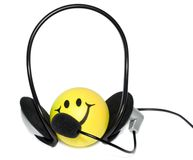 Headphones microphone Royalty Free Stock Photos