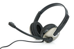 Headphones with microphone Royalty Free Stock Images