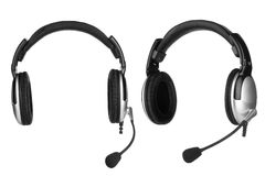 Headphones with a microphone Royalty Free Stock Photography