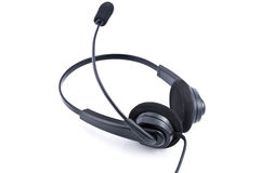 Headphones with microphone Stock Photo