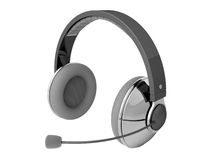 Headphones with microphone Stock Images