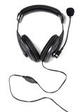 Headphones with microphone Stock Photography