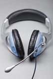 Headphones with a microphone Stock Photos