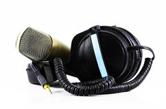 Headphones and Microphone Royalty Free Stock Photography