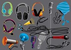 Headphones & Microphones Stock Photo