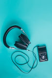 Headphones with misic player Royalty Free Stock Images