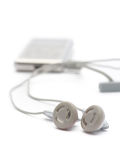 Headphones & mp3 player Stock Photography