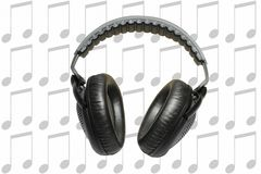 Headphones and music Royalty Free Stock Photos