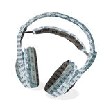 Headphones & music Stock Photo