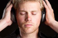 Headphones Music Boy Stock Photos