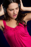 Headphones Music Girl Royalty Free Stock Image
