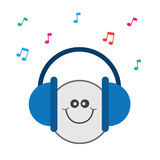 Headphones Music Happy Stock Photography