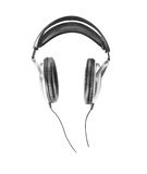 Headphones music Stock Photography