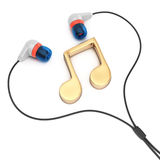 Headphones with music note Royalty Free Stock Images