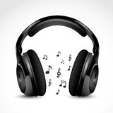 Headphones with notes Royalty Free Stock Photos