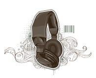 Free Headphones On Bizarre Background Stock Photo - 13920210