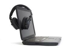 Free Headphones On Computer Royalty Free Stock Photos - 7175488