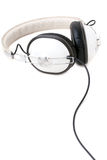 Headphones Over White Royalty Free Stock Photo